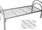 Металлические одноярусные двуспальные кровати